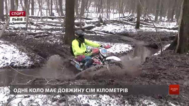 Мотоциклісти змагалися у перегонах лісом на «Winter Enduro Challenge»