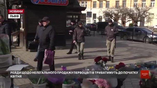 Під час першого рейду у центрі Львова не знайшли жодного продавця первоцвітів