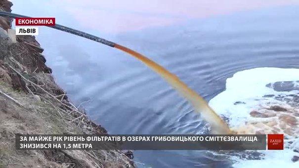 Рівень фільтратів на Грибовицькому сміттєзвалищі знизився на півтора метра