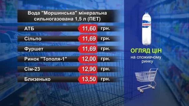 Вода «Моршинська» сильногазована. Огляд цін у львівських супермаркетах за 22 березня