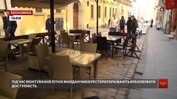 У Львові при облаштуванні літніх майданчиків ресторатори мають залишати майже два метри проходу