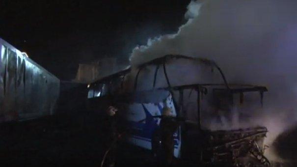У Львові згорів автобус Neoplan