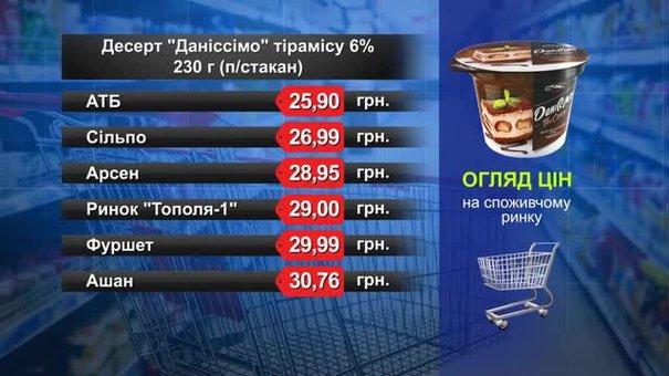 Десерт «Даніссімо» тірамісу. Огляд цін у львівських супермаркетах за 4 червня