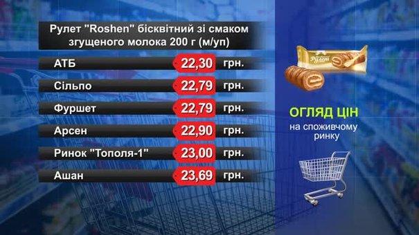 Рулет «Roshen» бісквітний. Огляд цін у львівських супермаркетах за 14 червня