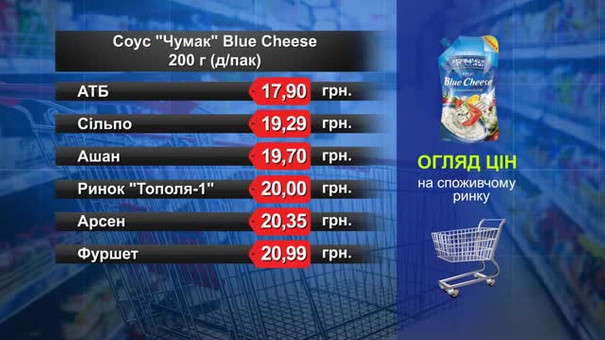 Соус «Чумак» Blue Cheese. Огляд цін у львівських супермаркетах за 20 червня