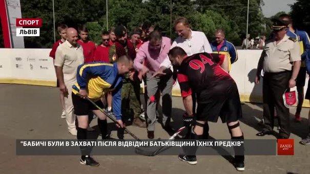 У Львові у вуличний хокей зіграли військові, дипломати, журналісти та IT-фахівці