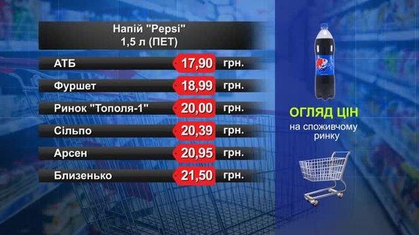 Pepsi. Огляд цін у львівських супермаркетах за 1 липня
