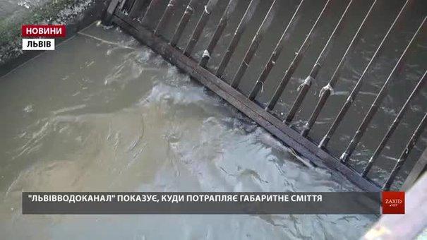 «Львівводоканал» показав пластикове сміття, яке потрапляє у каналізацію