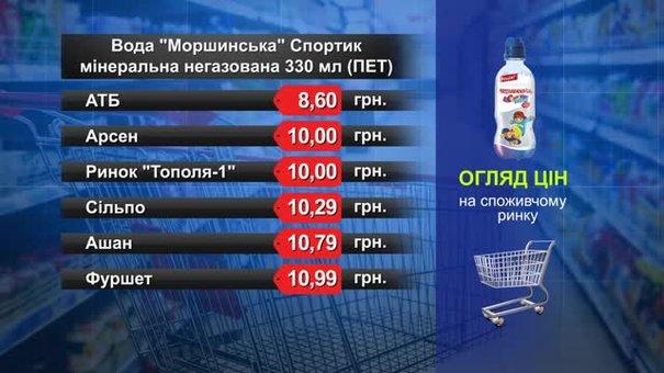 Вода «Моршинська» Спортик. Огляд цін у львівських супермаркетах за 4 липня