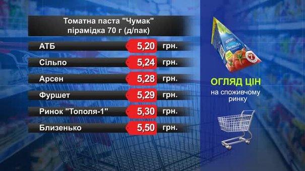 Томатна паста «Чумак». Огляд цін у львівських супермаркетах за 5 липня