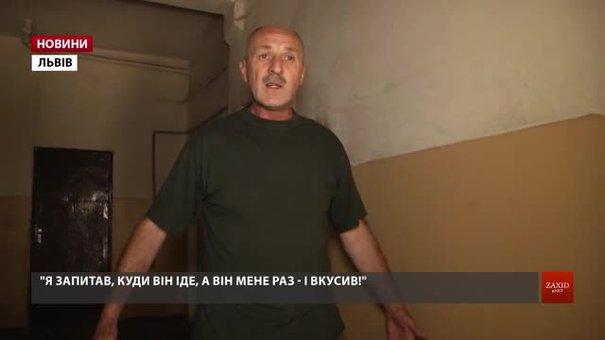 Охоронець львівського підприємства УТОСу стверджує, що новий директор вкусив його