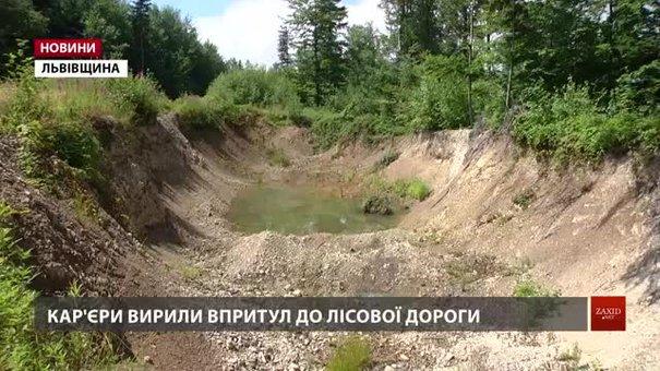 У лісі поблизу Трускавця влаштували нелегальні кар'єри