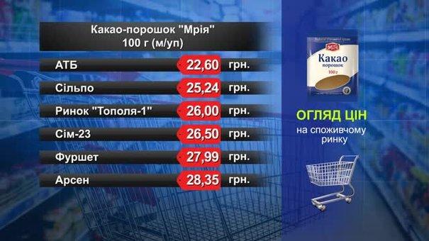 Какао-порошок «Мрія». Огляд цін у львівських супермаркетах за 17 липня