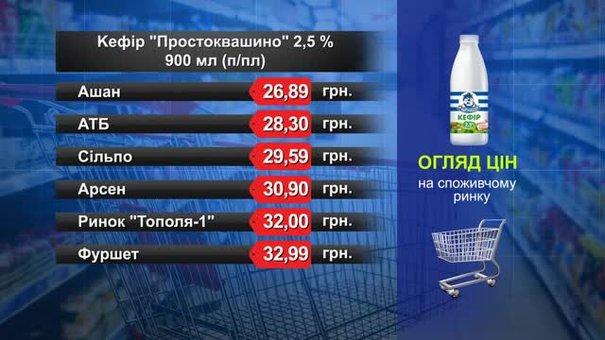Кефір «Простоквашино». Огляд цін у львівських супермаркетах за 18 липня