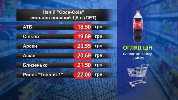 Coca-Cola. Огляд цін у львівських супермаркетах за 19 липня