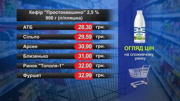 Кефір «Простоквашино». Огляд цін у львівських супермаркетах за 30 липня