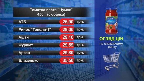 Томатна паста «Чумак». Огляд цін у львівських супермаркетах за 8 серпня