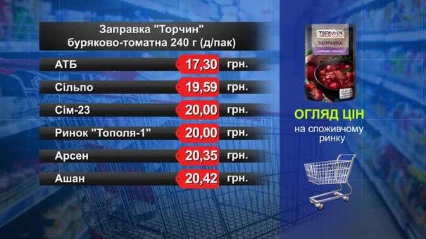 Заправка «Торчин» буряково-томатна. Огляд цін у львівських супермаркетах за 9 серпня