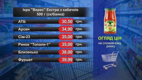 Ікра «Верес Екстра» з кабачків. Огляд цін у львівських супермаркетах за 5 вересня