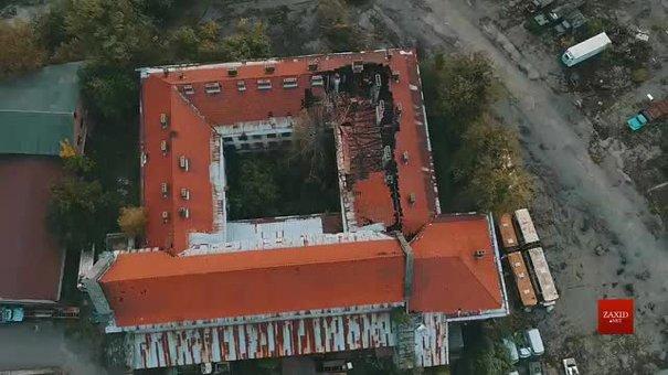 Закинутий монастир на території ЛАЗу зняли з висоти пташиного польоту
