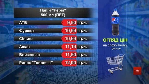 Pepsi. Огляд цін у львівських супермаркетах за 26 вересня