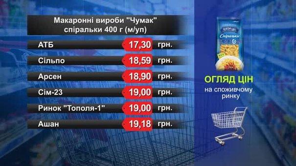 Макаронні вироби «Чумак». Огляд цін у львівських супермаркетах за 8 жовтня