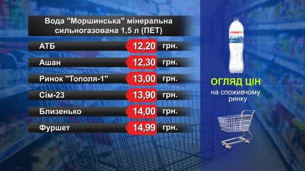 Вода «Моршинська» мінеральна сильногазована. Огляд цін у львівських супермаркетах за 9 жовтня