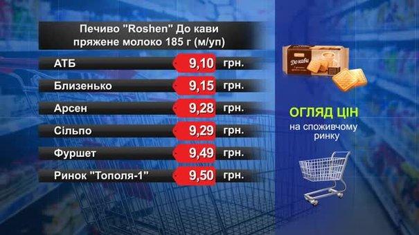 Печиво Roshen До кави. Огляд цін у львівських супермаркетах за 10 жовтня