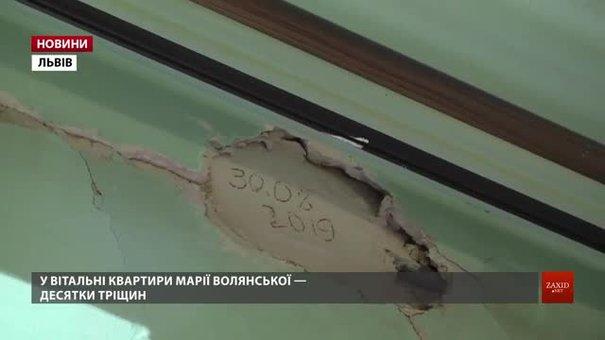 На Замарстинівській укріплять будинок, в якому після прокладання колектора посилились тріщини