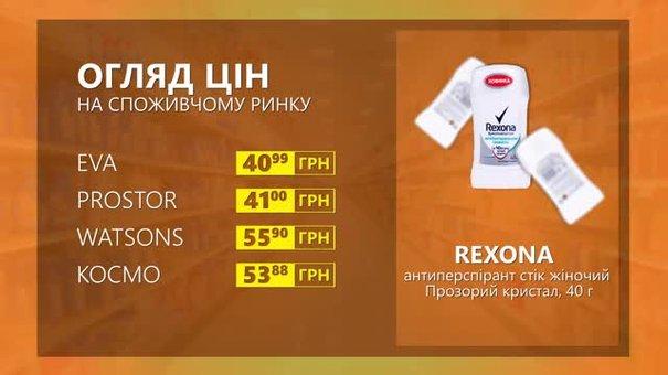 Огляд цін на антиперспірант Rexona у мережевих магазинах