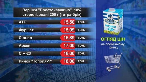 Вершки «Простоквашино». Огляд цін у львівських супермаркетах за 15 жовтня
