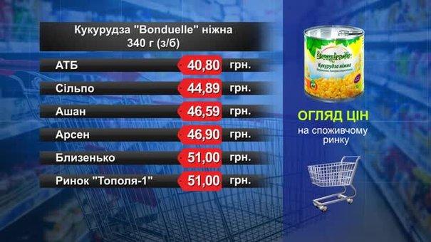 Кукурудза Bonduelle. Огляд цін у львівських супермаркетах за 16 жовтня