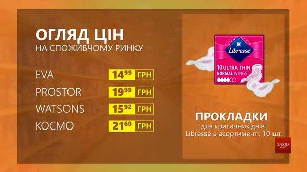 Огляд цін на прокладки Libresse у мережевих магазинах