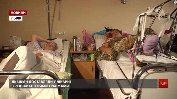 На вихідних у Львові травмувалося понад півтисячі людей