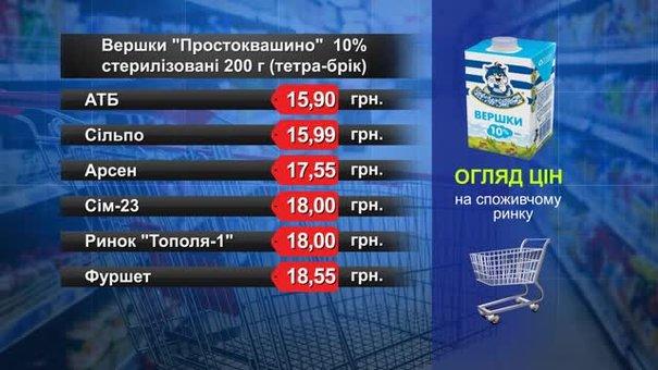 Вершки «Простоквашино». Огляд цін у львівських супермаркетах за 28 листопада