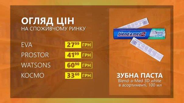 Огляд цін на зубну пасту Blend-a-Med 3D white у мережевих магазинах