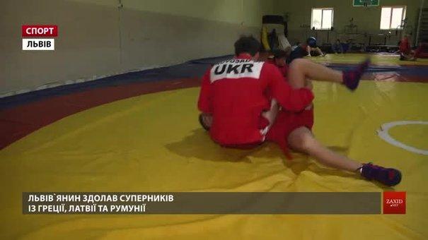 Львів'янин Семен Новосад став віце-чемпіоном Європи із самбо серед кадетів
