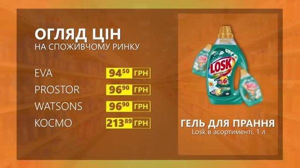 Огляд цін на гель для прання Losk у мережевих магазинах