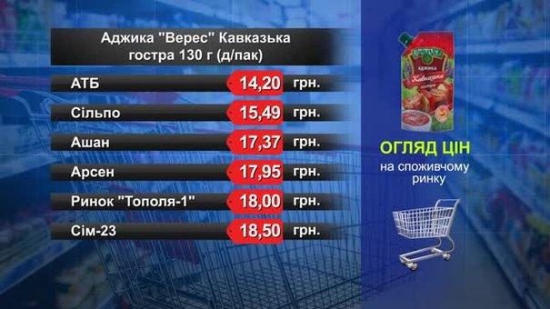 Аджика «Верес» Кавказька. Огляд цін у львівських супермаркетах за 21 грудня