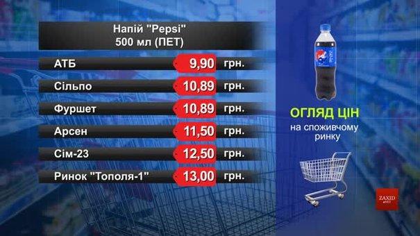 Pepsi. Огляд цін у львівських супермаркетах за 29 січня