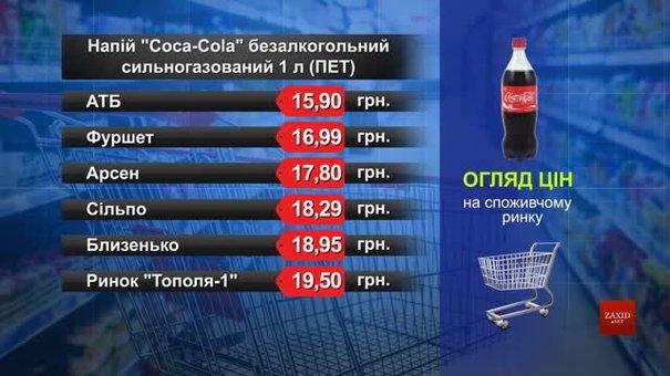 Coca-Cola. Огляд цін у львівських супермаркетах за 5 лютого