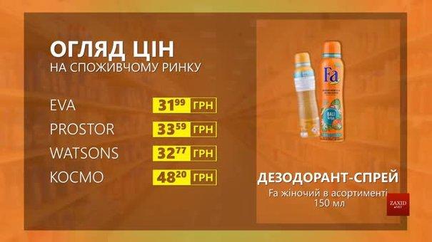 Огляд цін на дезодорант-спрей Fa жіночий у мережевих магазинах