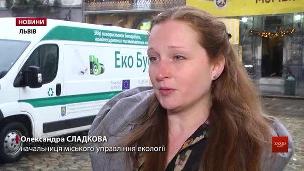 Зібрані екобусом у Львові використані батарейки перероблятимуть у Польщі