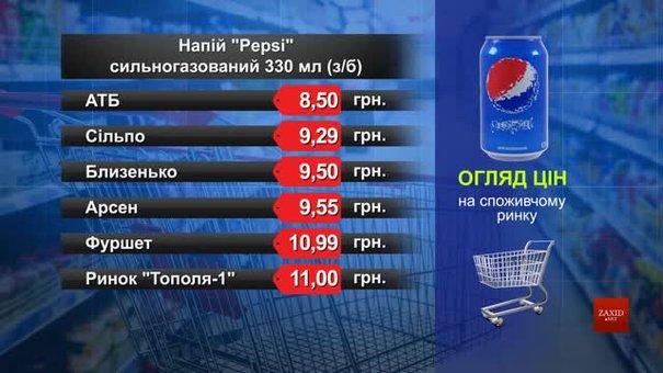 Pepsi. Огляд цін у львівських супермаркетах за 2 березня