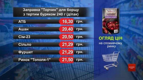 Заправка «Торчин» для борщу. Огляд цін у львівських супермаркетах за 6 березня