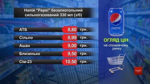 Pepsi. Огляд цін у львівських супермаркетах за 10 квітня