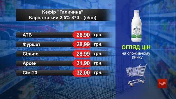Кефір «Галичина» Карпатський. Огляд цін у львівських супермаркетах за 12 травня