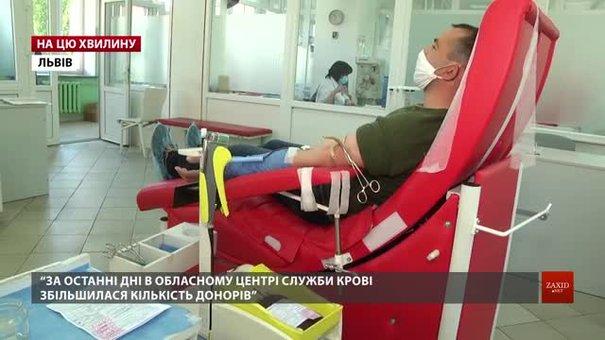 У Львові збільшилася кількість донорів крові, але в районах забезпечено лише 40% від потреби