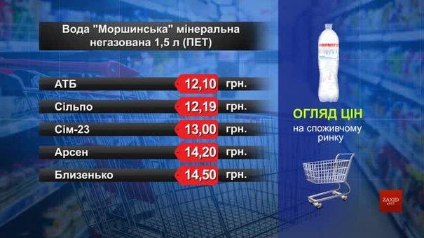 Вода «Моршинська» мінеральна негазована. Огляд цін у львівських супермаркетах за 14 травня