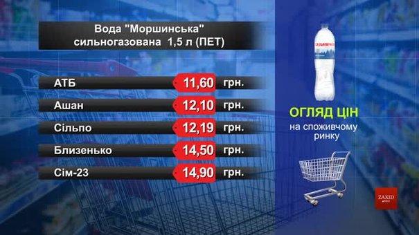 Вода «Моршинська» мінеральна сильногазована. Огляд цін у львівських супермаркетах за 2 червня